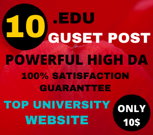 I Will Publish 10 Edu Guest posts on education websites da 80 plus with a permanent DO-FOLLOW Backl