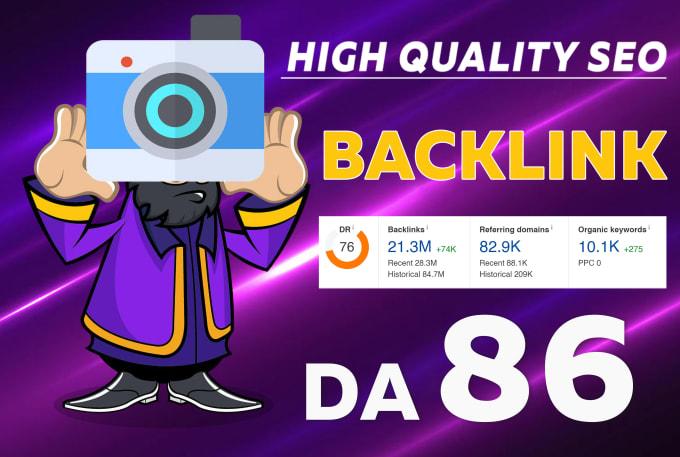 high quality SEO do follow backlink from da 86 website