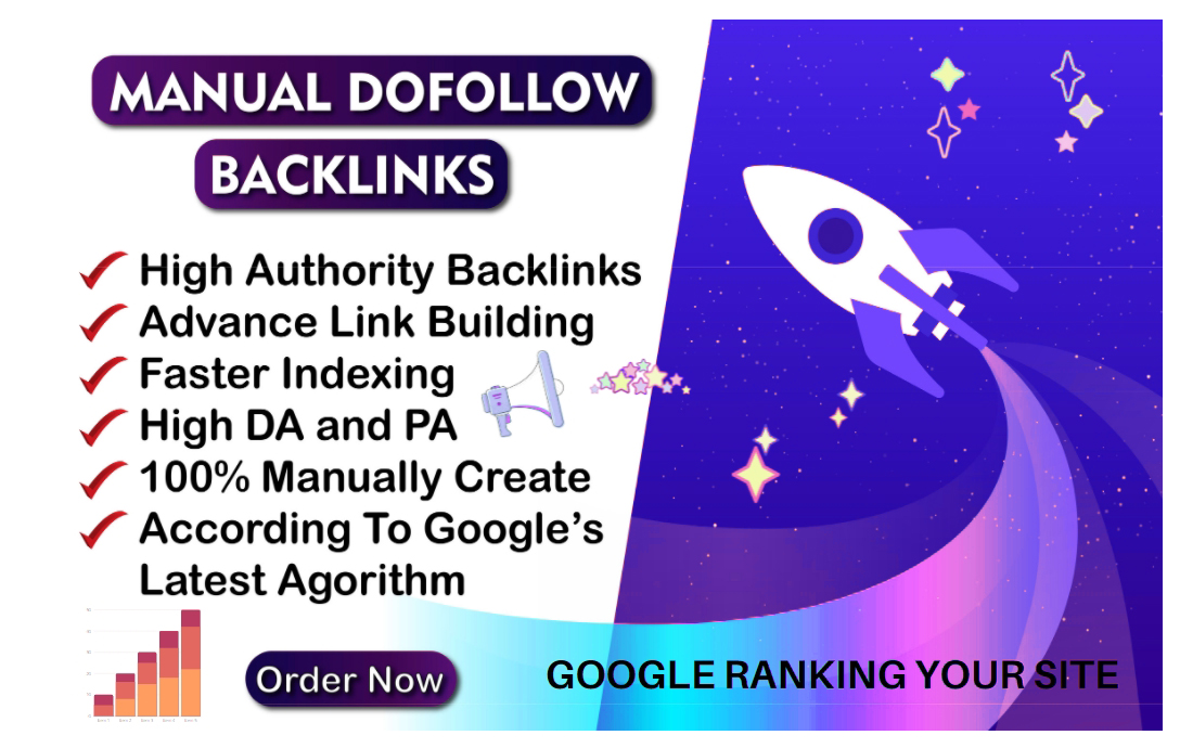 I will Create 120 high authority 70+ dofollow backlinks top rank on google