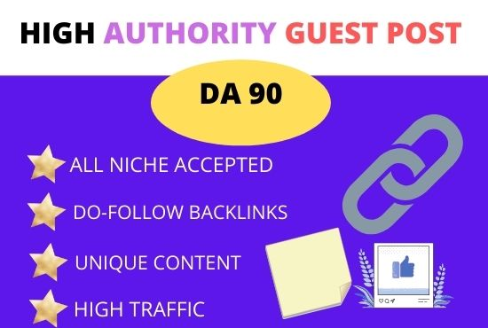 I Will Write and Publish 20 guest posts On-High Authority Sites