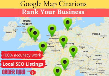 I Will Create 2000 Google Map citation for any country