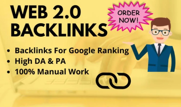I do manually create 20 high DA dofollow web 2.0 backlinks