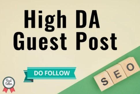 I will do high authority dofollow guest post da 93 website