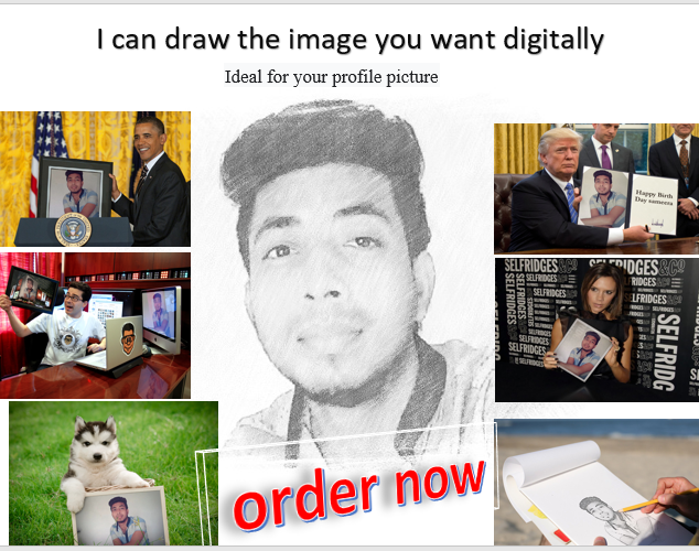 I will create a sketch image for your profile picture or celebration image