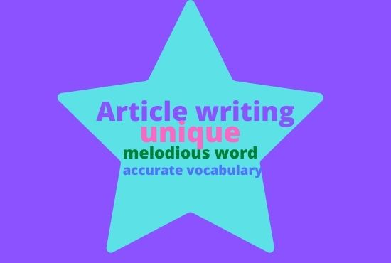 1000 words unique article writing.