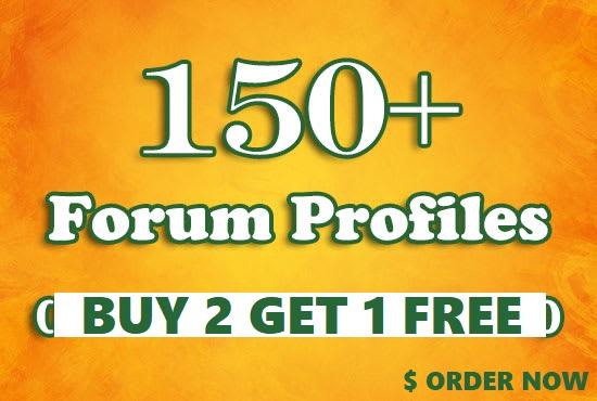 Create 60 Forum Profile Backlinks