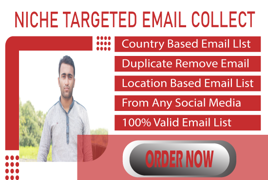 I will provide 5k niche targeted email list,  I am a expert for this work