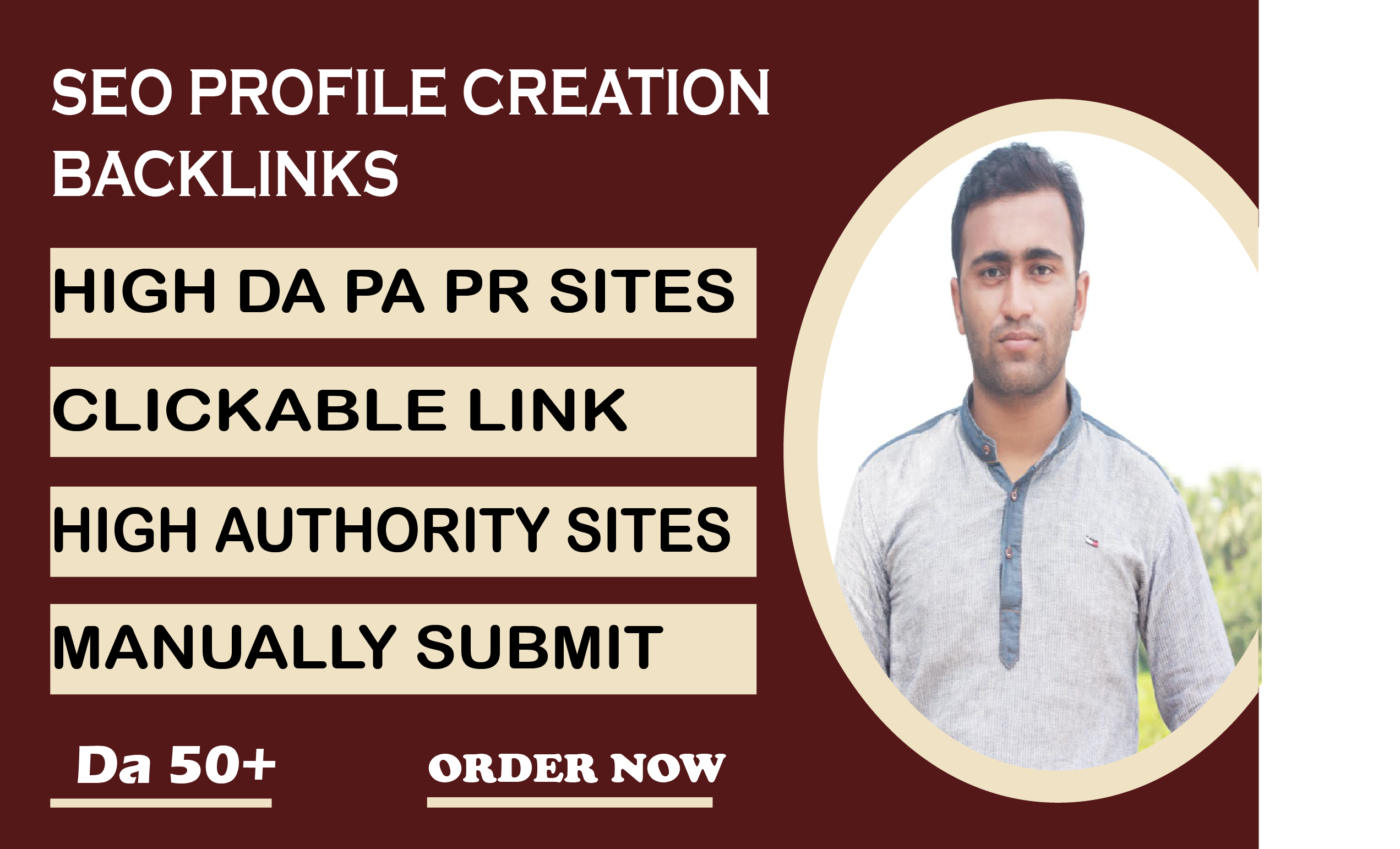 I will do creat high quality profile backlinks for manual SEO link building