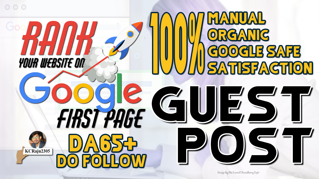 25 DoFollow Guest Post Links DA65+ High Visitor General Blogs to Rank Higher on Google