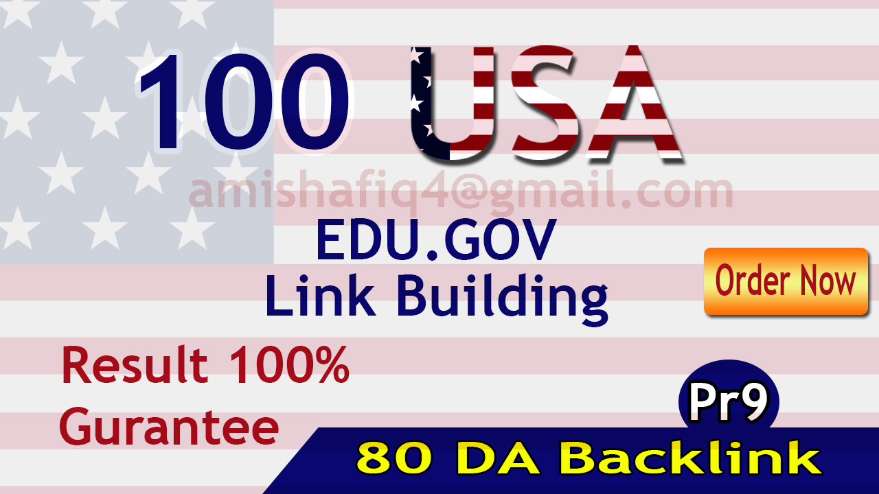 I will provide Premium Quality 80 DA Edu gov Backlinks Quick delivery