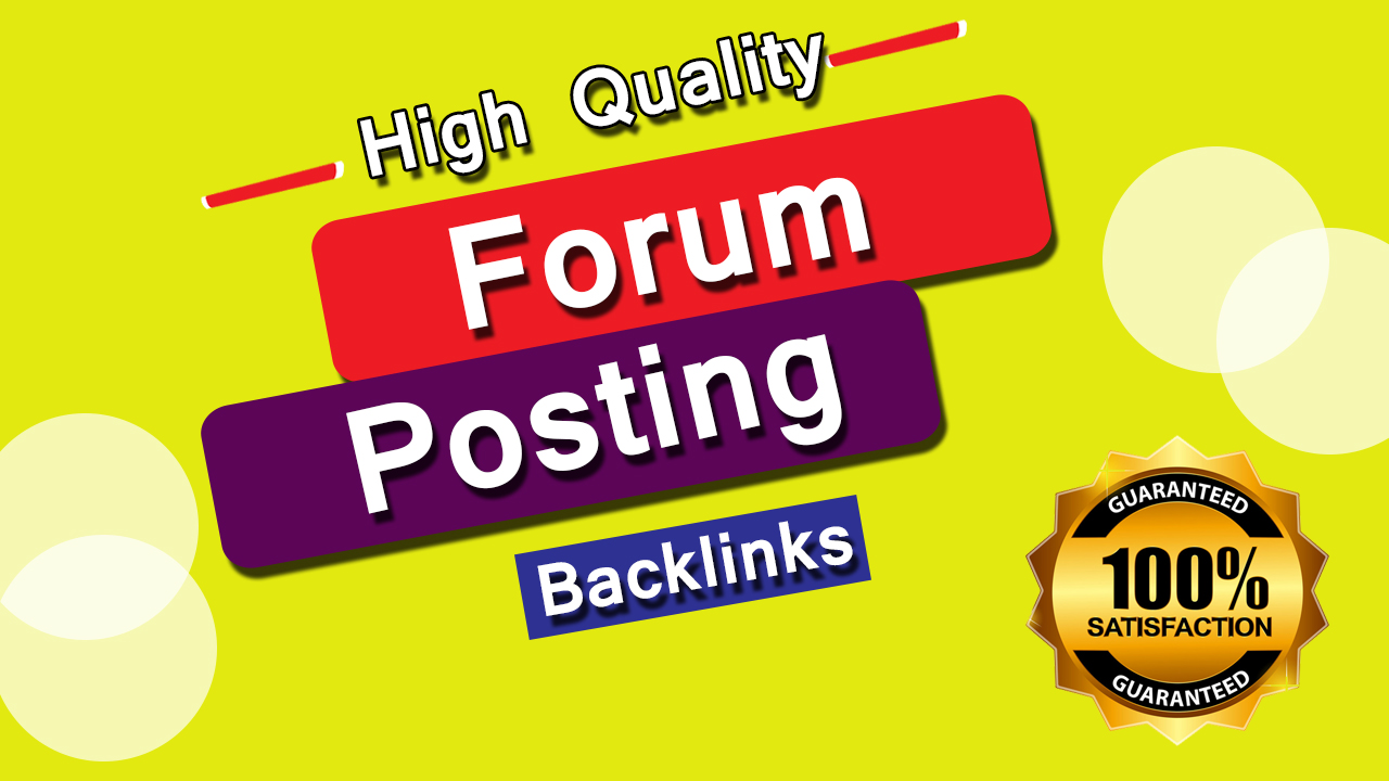 create 500 forum dofollow SEO backlinks for link building