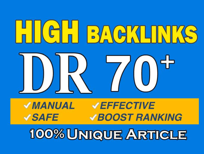 I will give you DR 50 to 70 strong homepage backlinks.