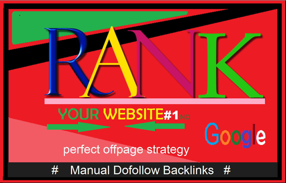Rank your website manually create high authority seo 33 backlinks from top brands