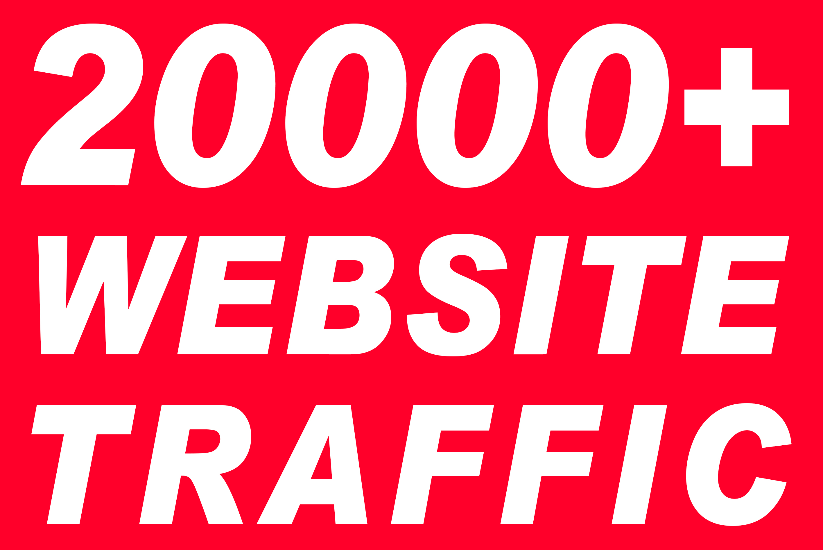 I will send 20000+ real active human visitors from google, yahoo, bing etc