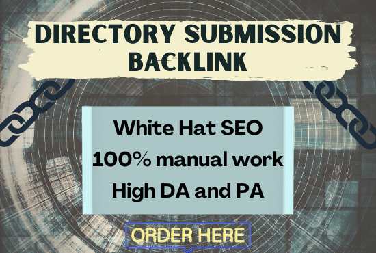 I will create 50 high-quality Directory submission backlinks