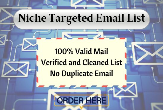 I will collect 5000 niche targeted email list