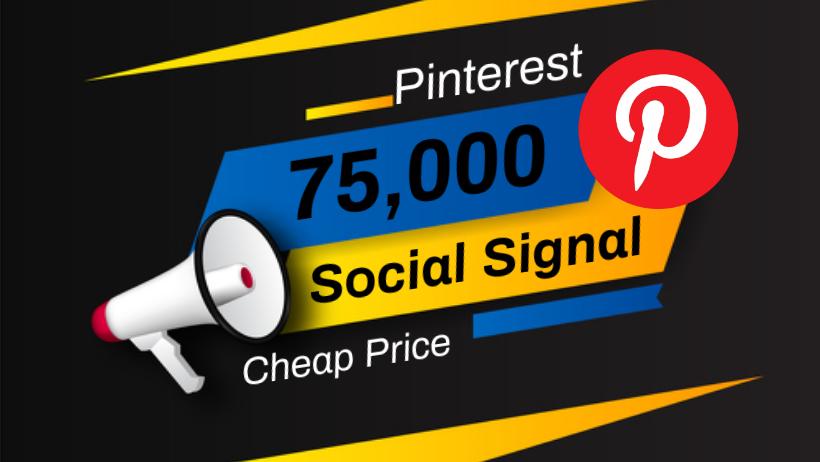 Great Top 1 Powerful Platform 75,000 Pinterest Social Signal Media Backlink Bookmarks Websites