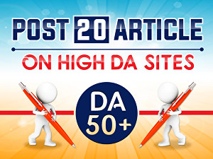 I will provide 10 Article Submission backlinks on high DA