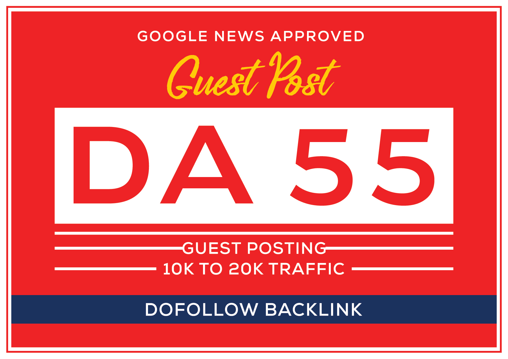 publish guest post on my DA 55 google news approved website 10k to 20k traffic