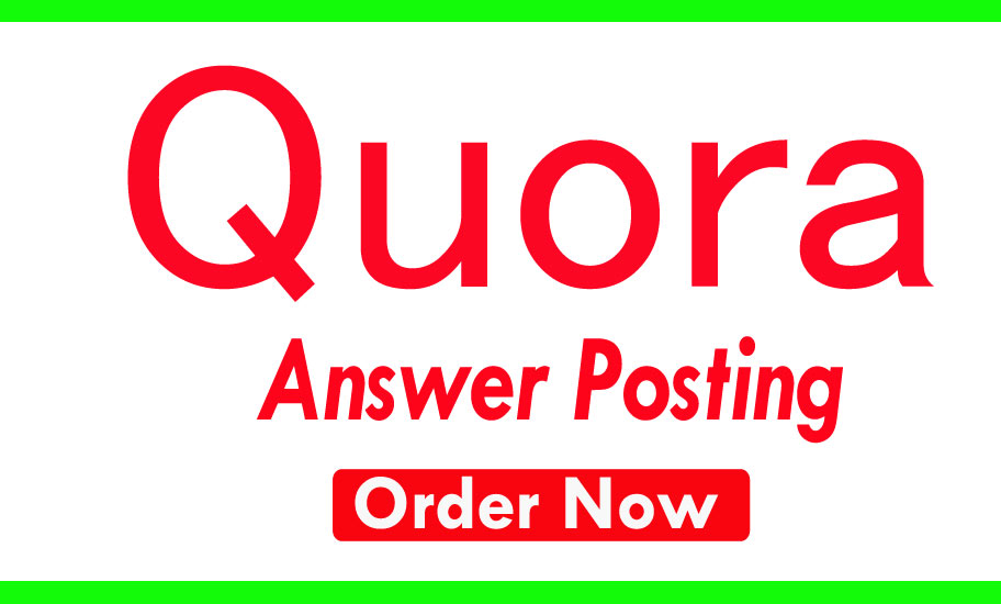 promote your website with 10 highly Quora answer with backlinks & URL