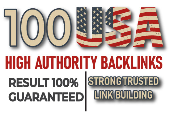 I will do 100 high authority safe SEO link building backlinks