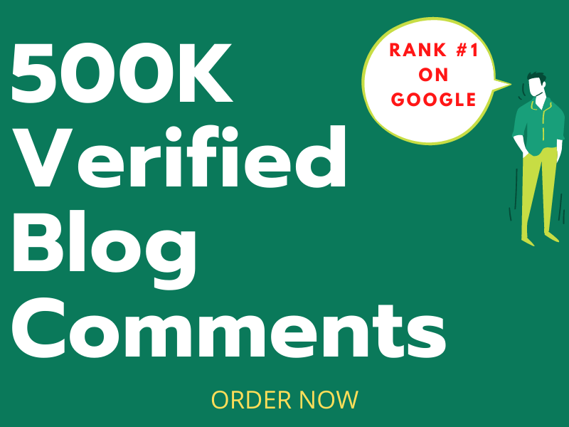 I will do a blast of 500k high quality blog comments backlinks for SEO