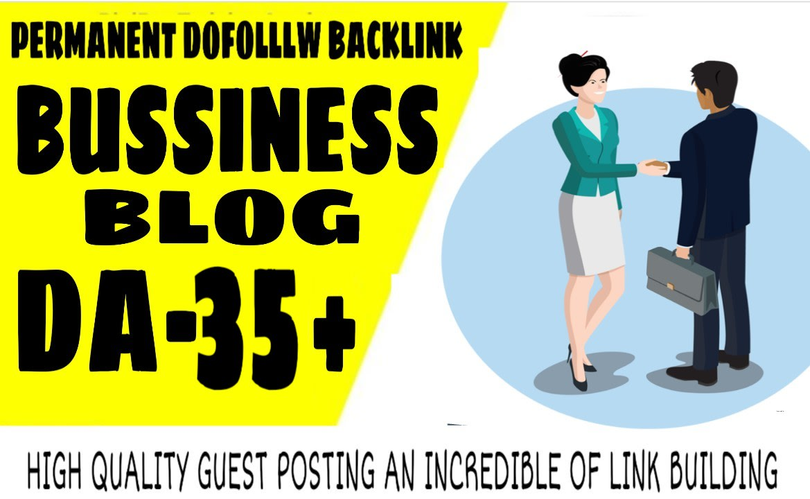 I will do guest post in da 35 business blog