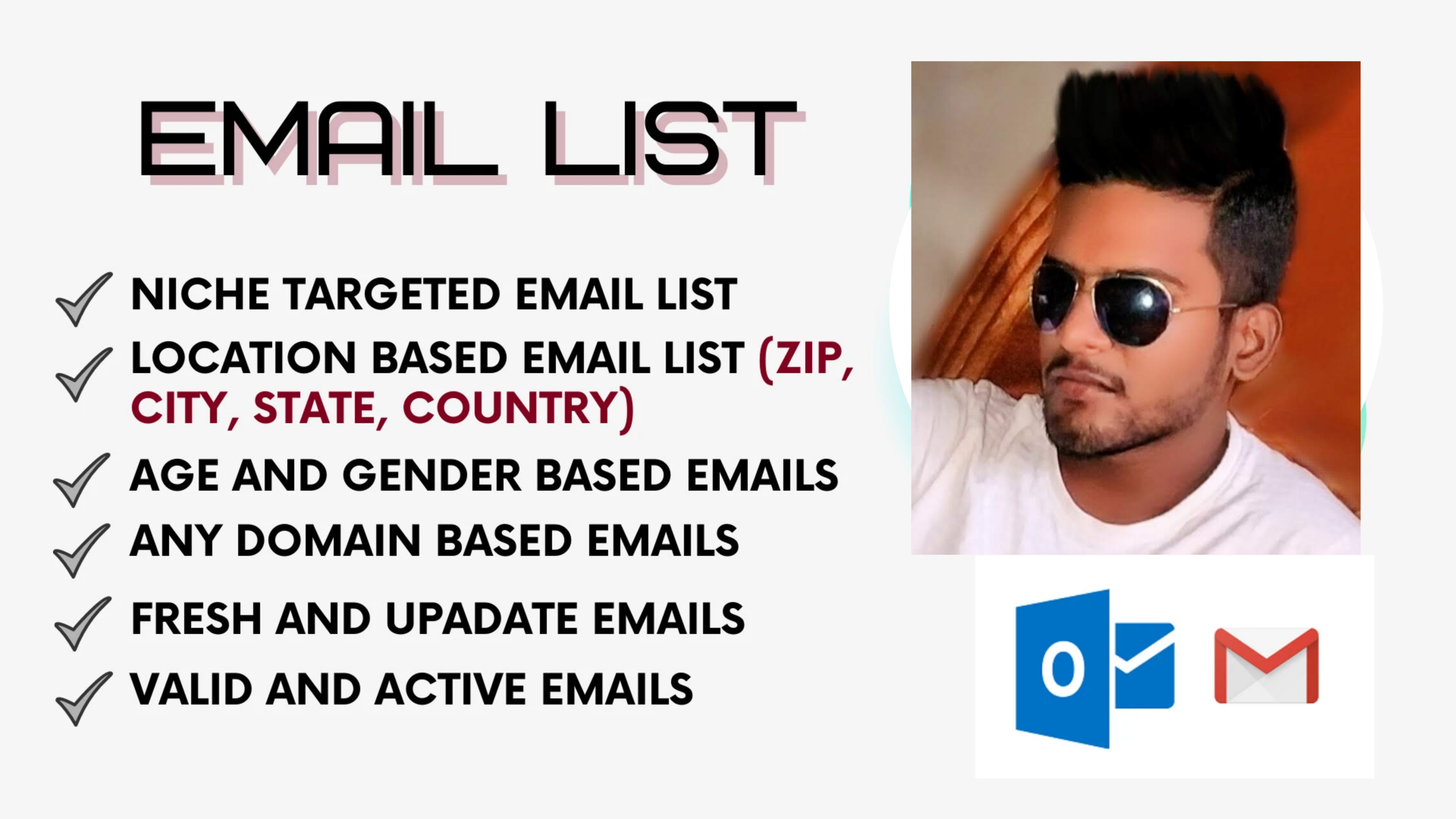 Collect valid bulk email list by targeted niche