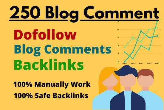 Create 250 dofollow blog comment backlinks