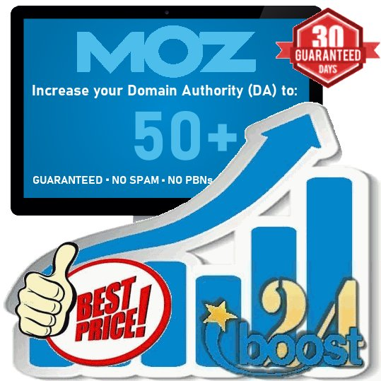 Increase Domain Authority Moz DA PA To 40+ Site Upto Website Within