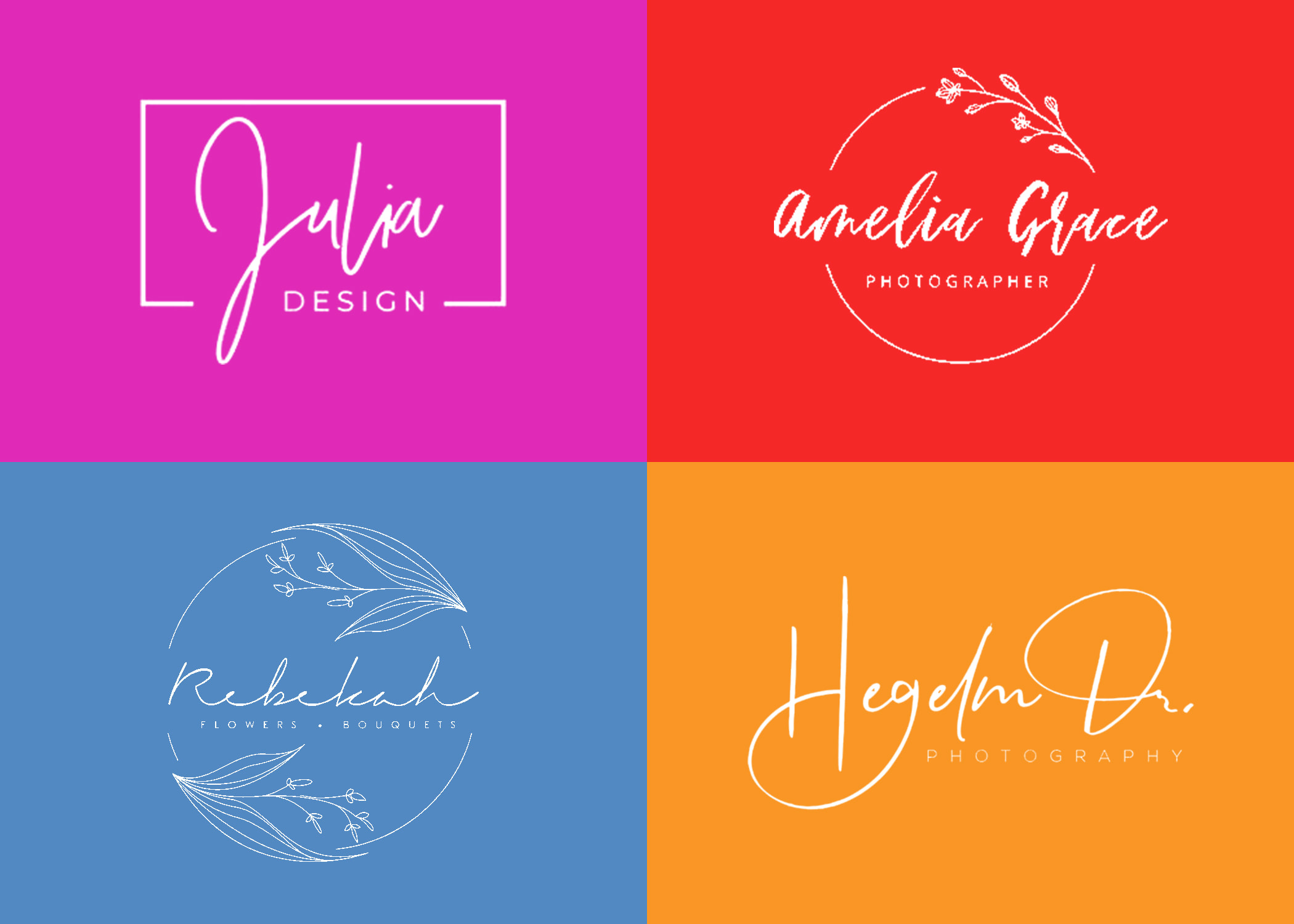 I will do professional signature logo with brand style guides
