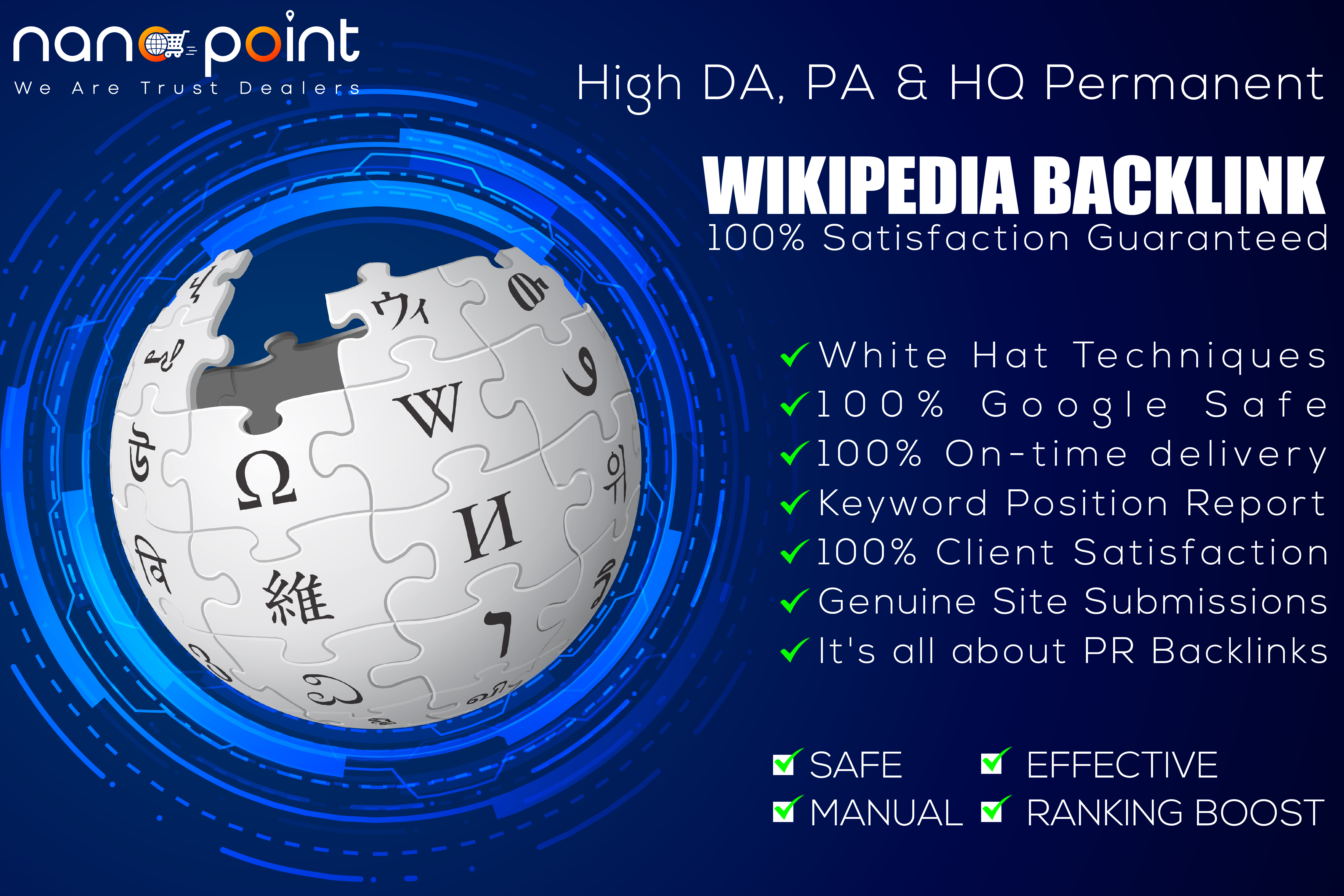 1000 Most Powerful Niche Relevant Wikipedia SEO Backlink for fast Ranking