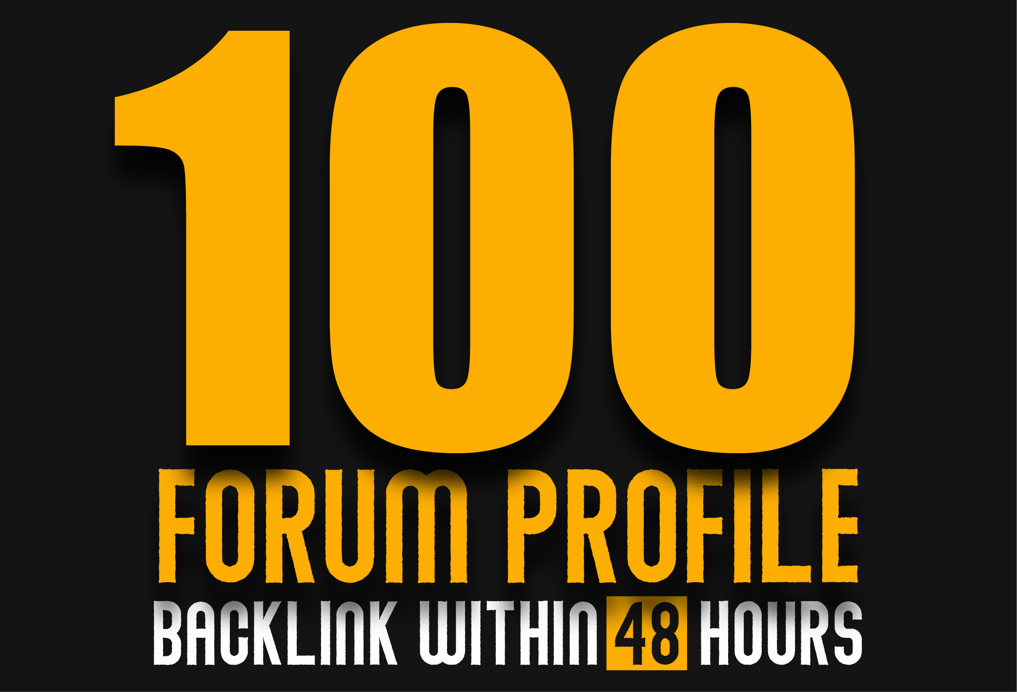 100 Forum Profile Backlink within 48 hours