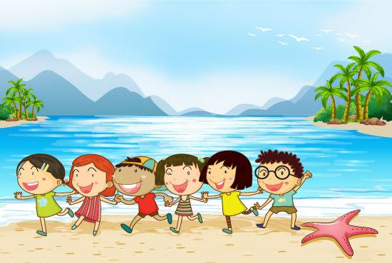 I will design children book illustrations