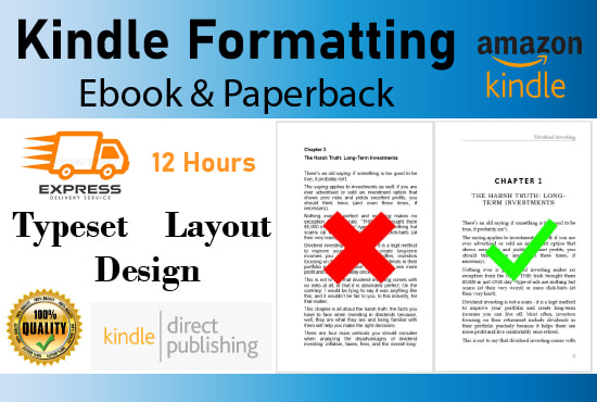 I will do ebook formatting and paperback formatting for KDP