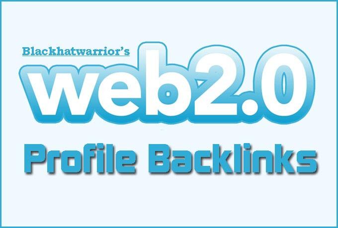 I will create over 150 web 2, 0 profile backlinks on high da sites