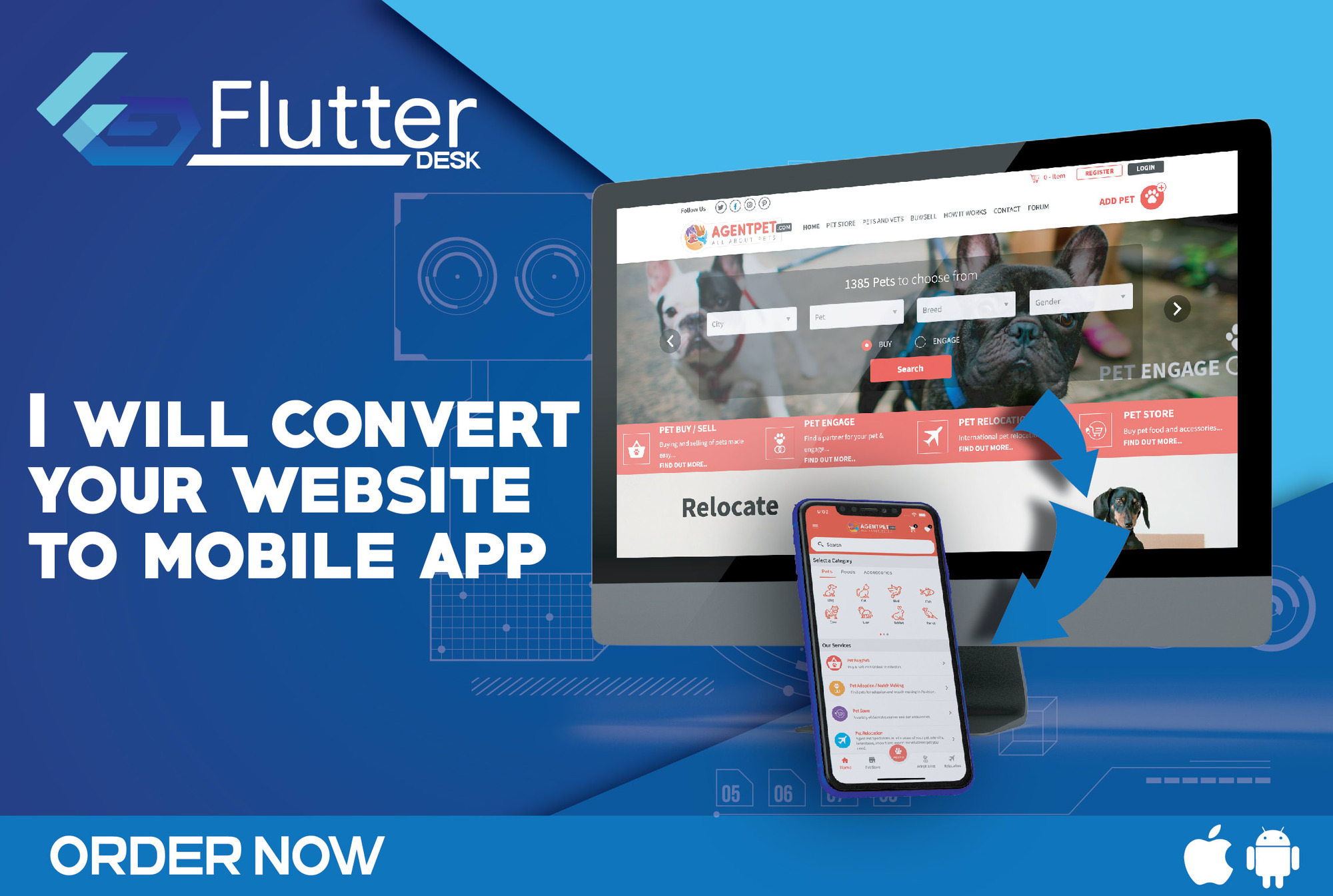 I will convert website to an Android mobile app with Flutter
