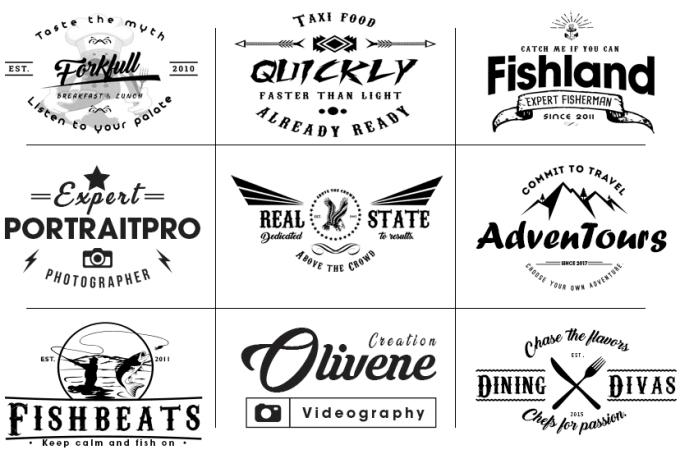I will do modern minimalist logo design with brand guideline