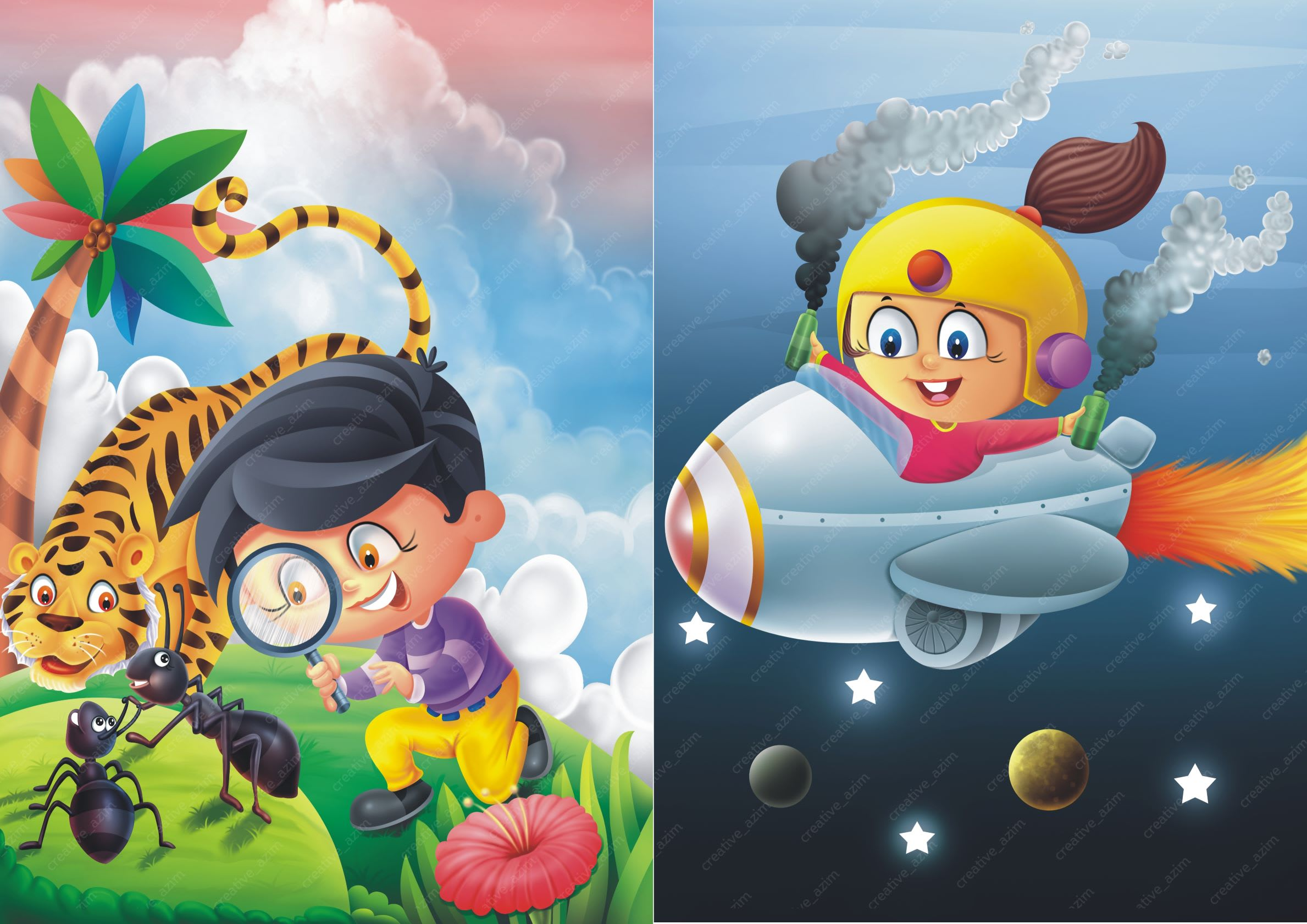 I will create expert children book illustration in any style