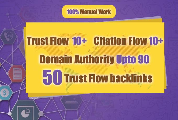 I will do 50 highly authoritative dofollow trust backlinks for you