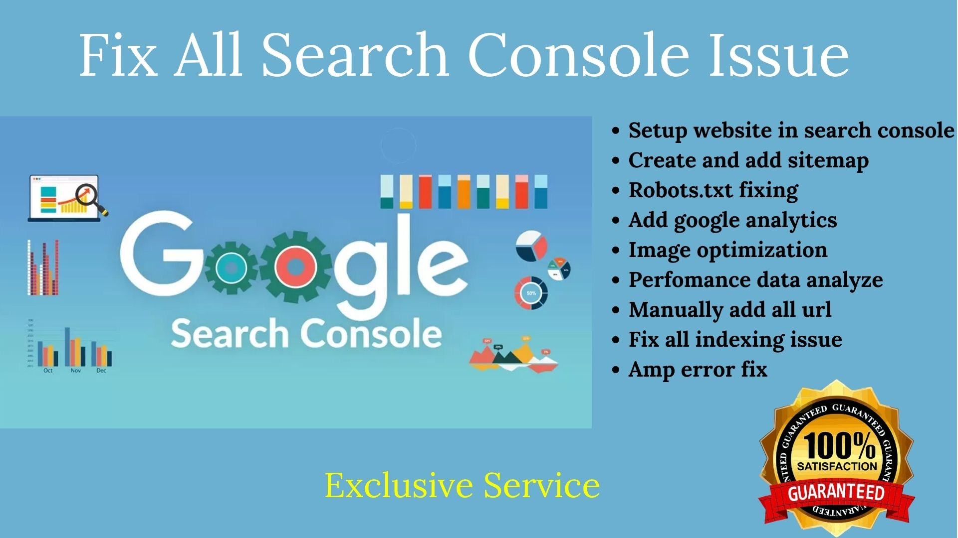 I will index your website in google search console