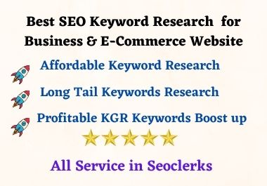 Best Affordable SEO Keywords Research for Business & E-Commerce Platform