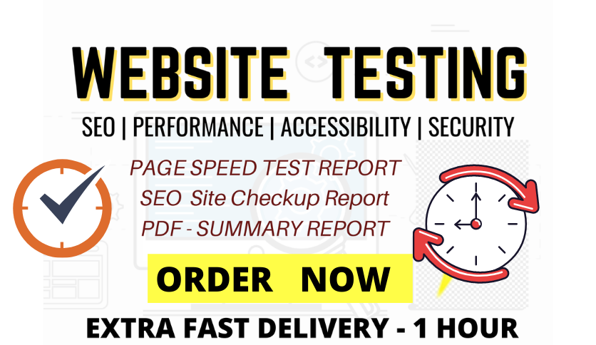 website seo audit report and speed test