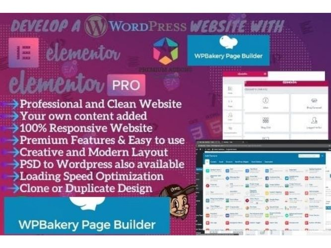 I will convert html, psd, figma to wordpress using elementor pro or wpbakery