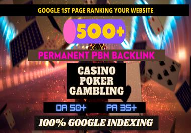 500+ PBN Blog Post Casino/Gambling/Poker/judi Bola Niche Related Permanent Post