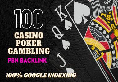 100 High Quality permanent DA 58-30+ PBN Backlinks Casino,  Gambling,  Poker,  Judi Related Websites