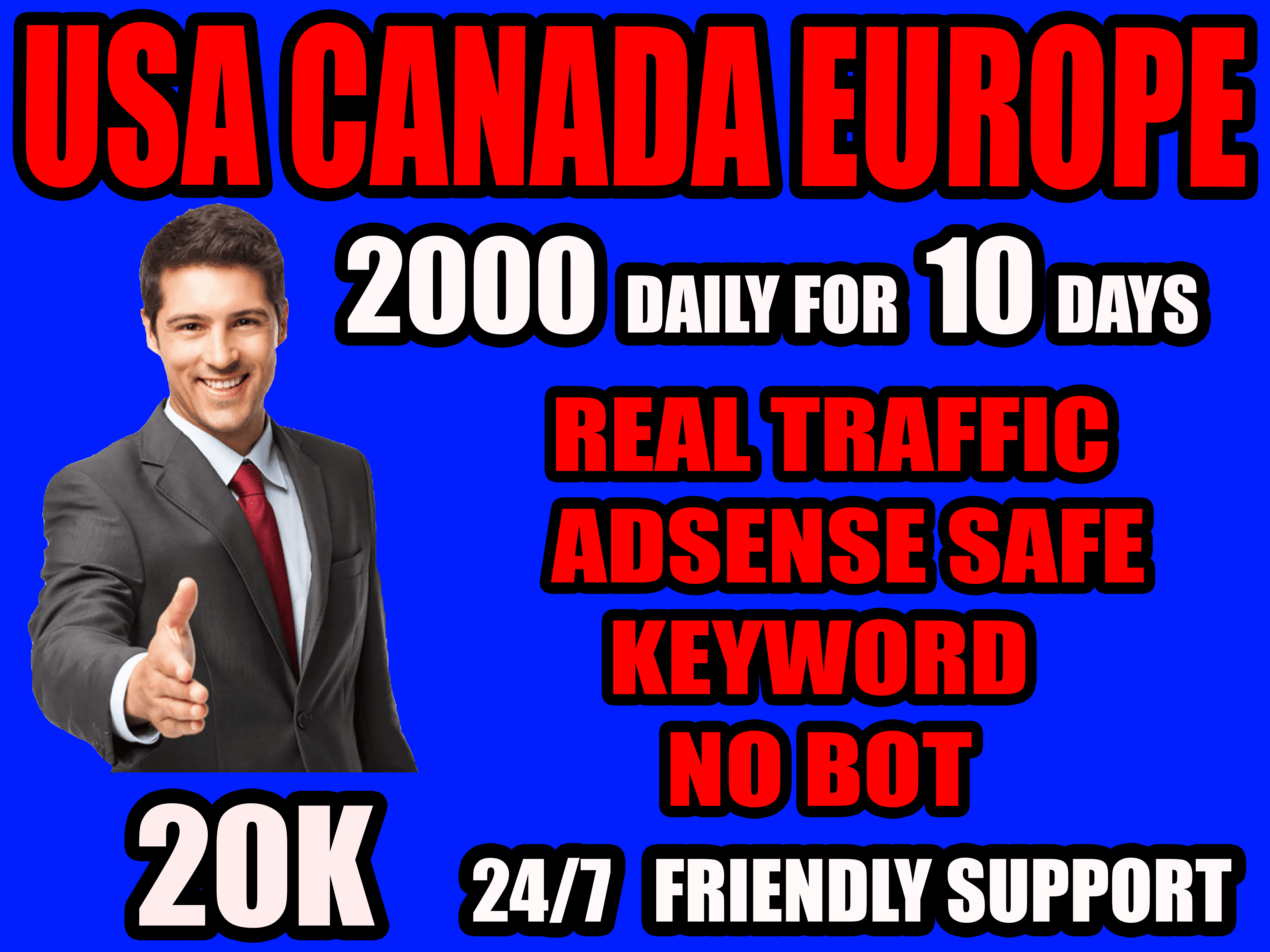 I will drive USA organic targeted web traffic unique visitors