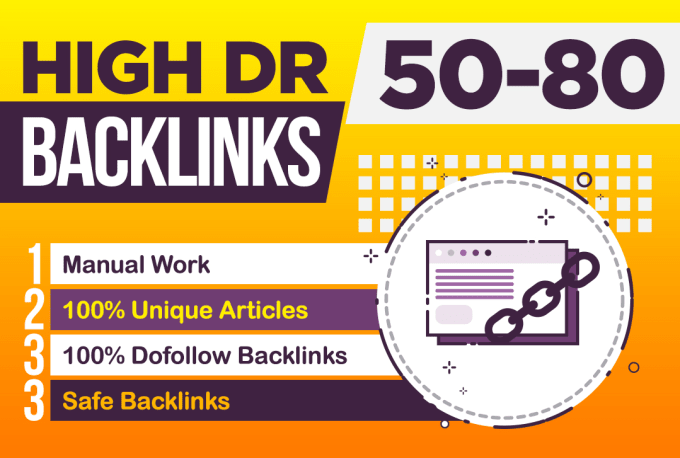 I will create high DR permanent dofollow backlinks for off page seo