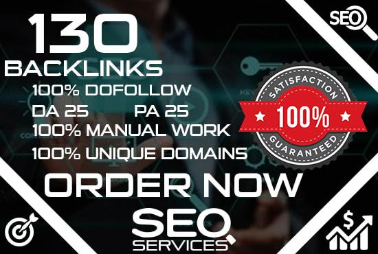 I will create 450 highly authoritative dofollow backlinks