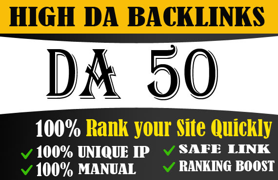 I will create powerful high da dofollow backlinks for off page seo